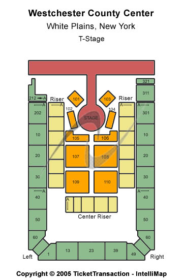 Westchester County Center Seating Chart: T-Stage