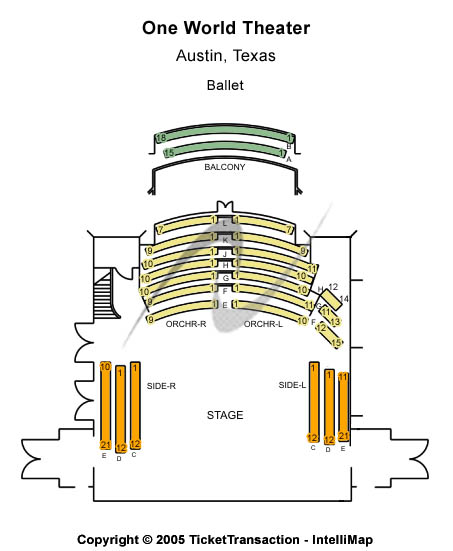 One World Theatre Seating Map