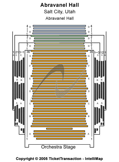 Abravanel Hall Seating Chart