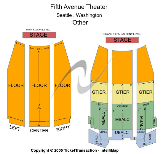 5th Avenue Theatre Seating Chart