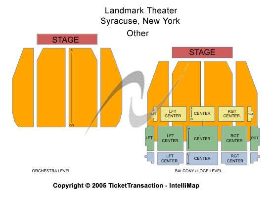 Landmark Theatre-ny Seating Map
