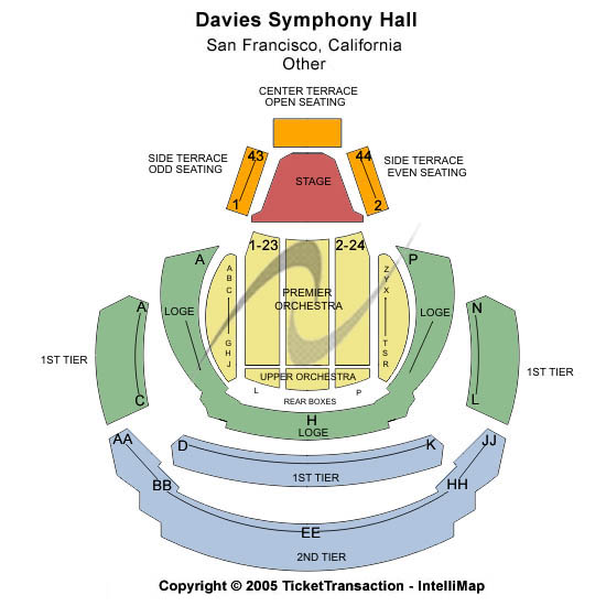 Davies Symphony Hall Seating Chart
