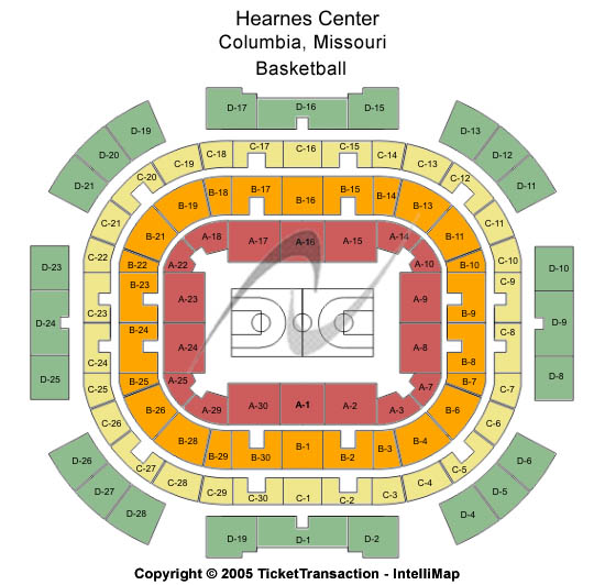Hearnes Center Seating Map