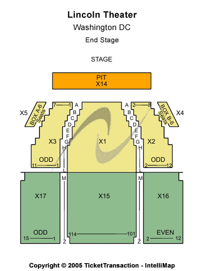 Lincoln Theatre Seating Chart