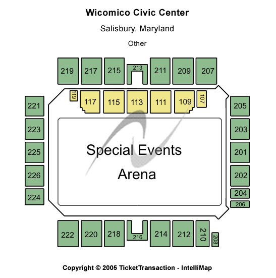 Wicomico Civic Center Seating Chart