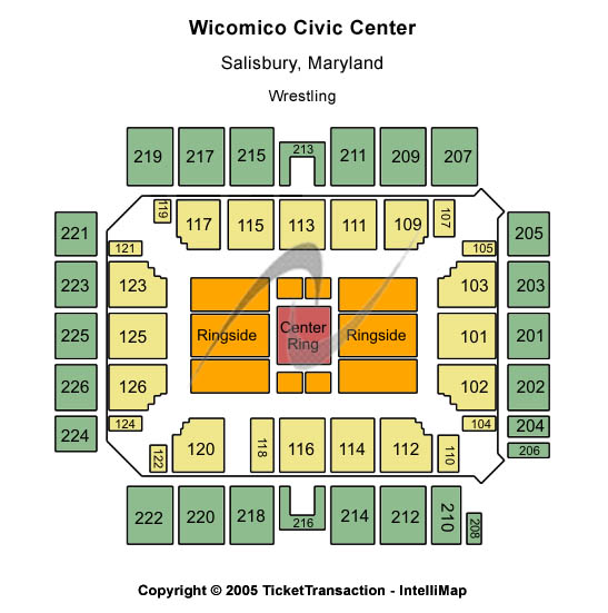 Wicomico Civic Center Seating Map