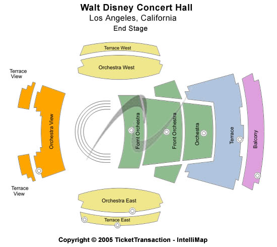 Walt Disney Concert Hall Seating Chart