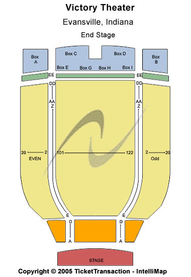 Victory Theatre Seating Map