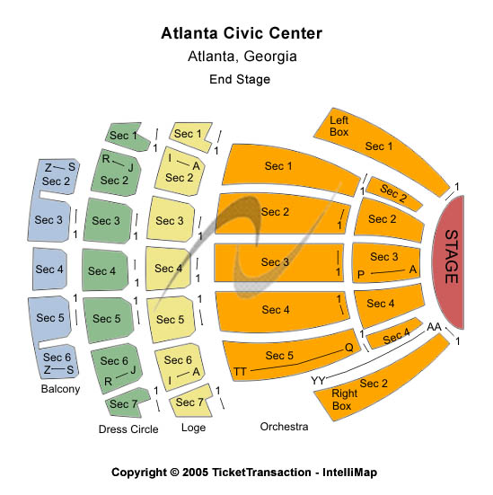 Atlanta Civic Center Seating Chart