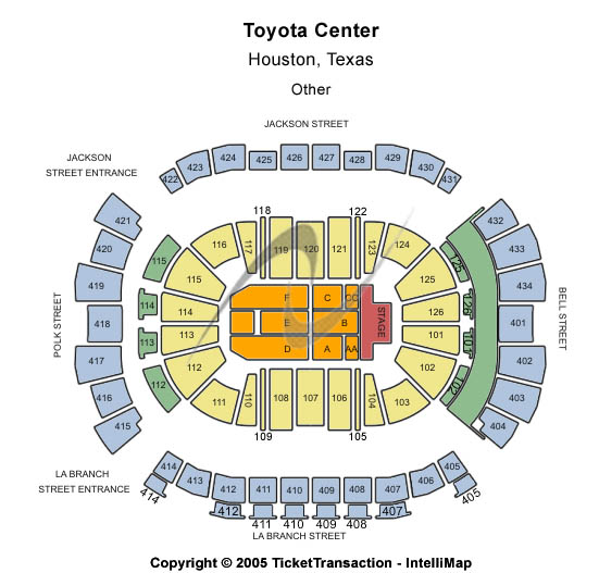 Toyota Center - TX Seating Chart: Other