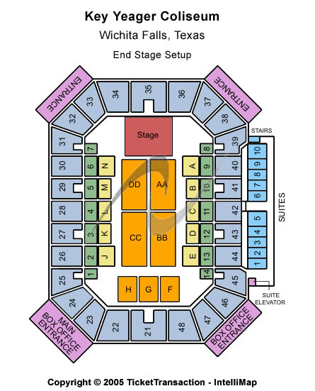 Kay Yeager Coliseum Seating Chart