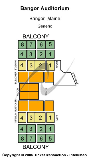 Bangor Auditorium Seating Chart