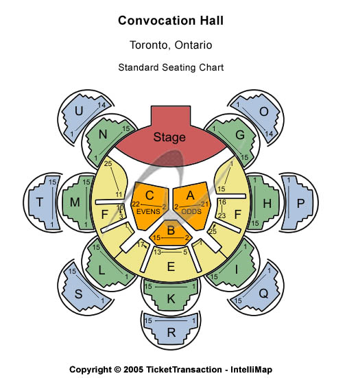 Convocation Hall Seating Chart