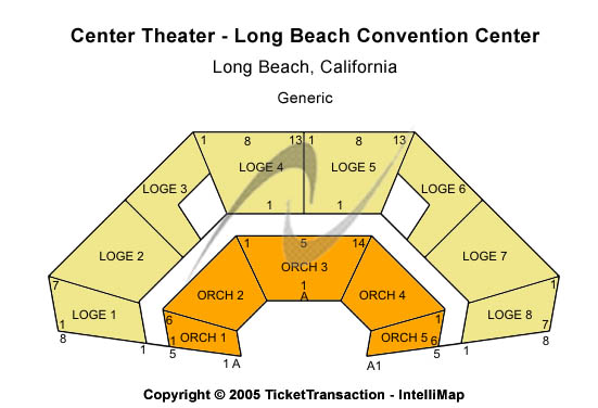 Center Theater - Long Beach Convention Center Seating Map