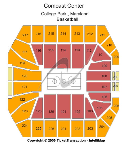 Comcast Center - Md Seating Map