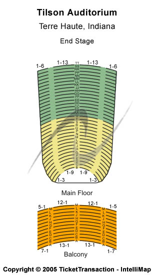 Tilson Auditorium Seating Map