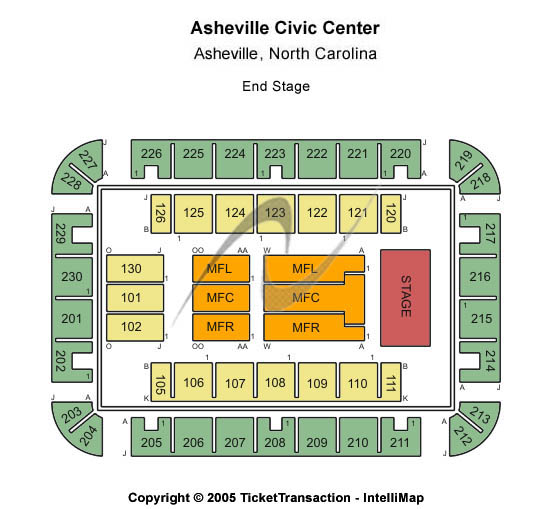 U. S. Cellular Center Asheville Seating Chart