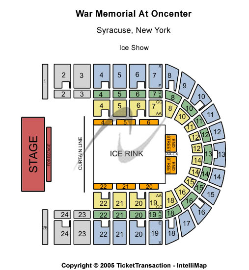 War Memorial At Oncenter Seating Chart