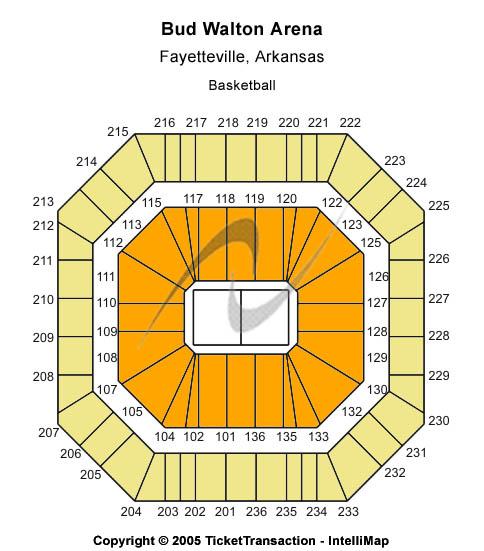 Bud Walton Arena Seating Chart