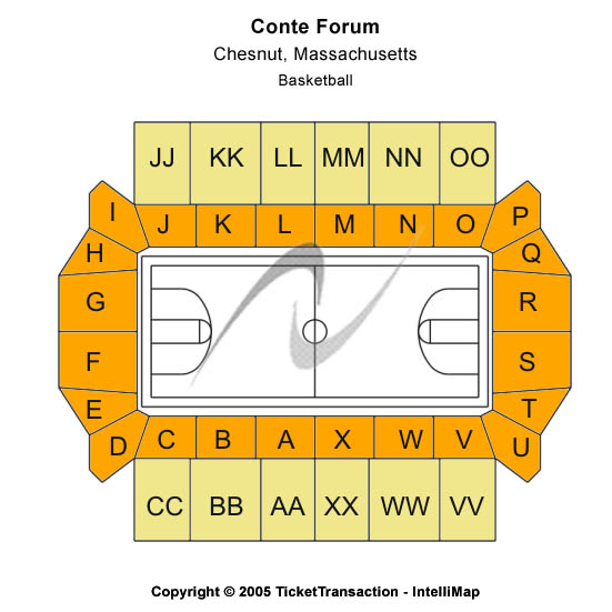 Conte Forum Seating Chart