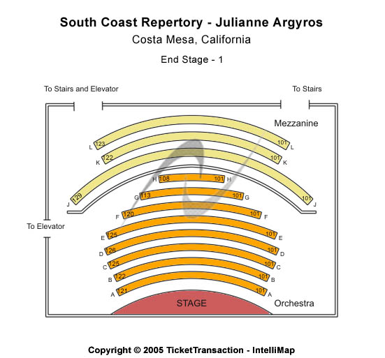 South Coast Repertory Seating Chart