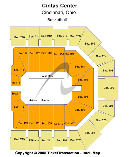 Cintas Center Seating Chart