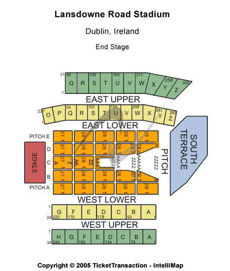 Aviva Stadium Seating Chart