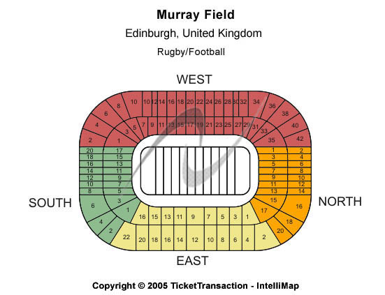 Murrayfield Stadium Seating Chart
