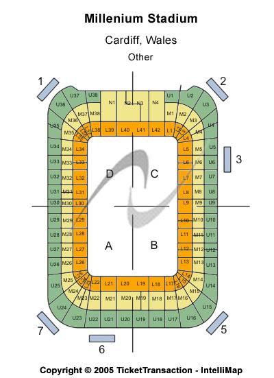 Cardiff Millennium Stadium Seating Chart