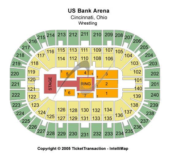 US Bank Arena Seating Map