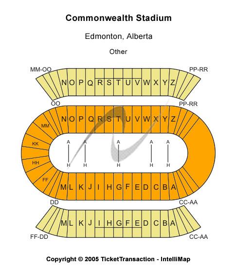Commonwealth Stadium-Edmonton Seating Map