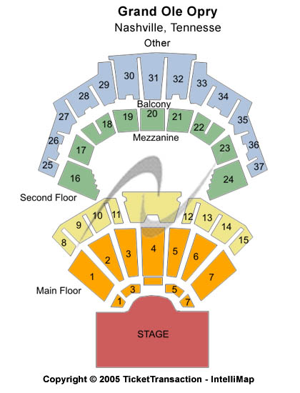 Grand Ole Opry House Seating Chart: Other