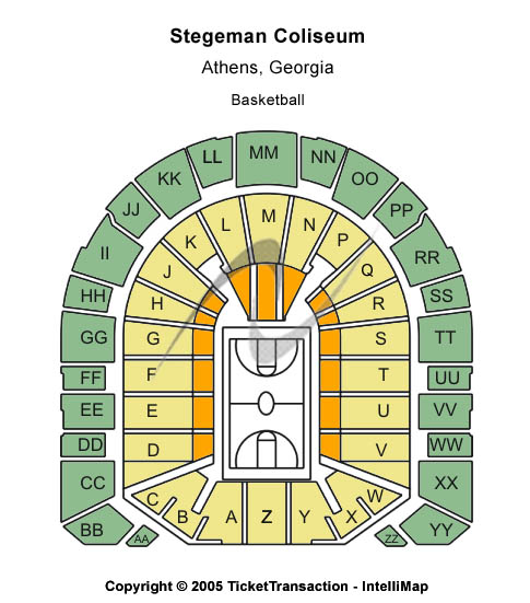 Stegeman Coliseum Seating Map