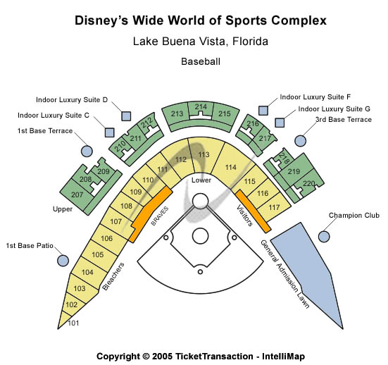 Disneys Wide World Of Sports Complex Seating Map