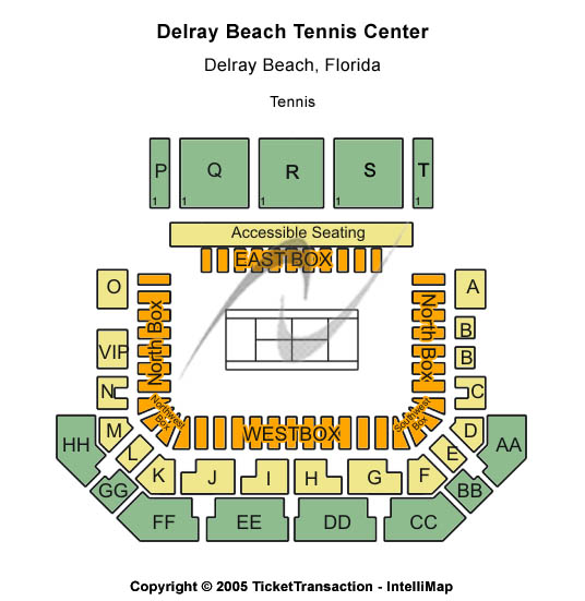 Delray Beach Tennis Center Seating Chart