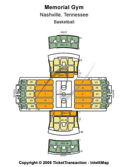 Vanderbilt University Memorial Gymnasium Seating Chart