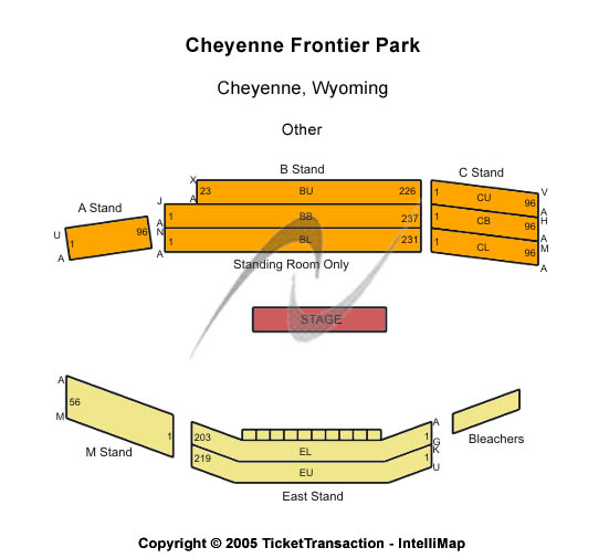 Cheyenne Frontier Days Seating Map