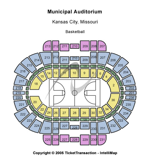 Municipal Auditorium Arena Seating Chart