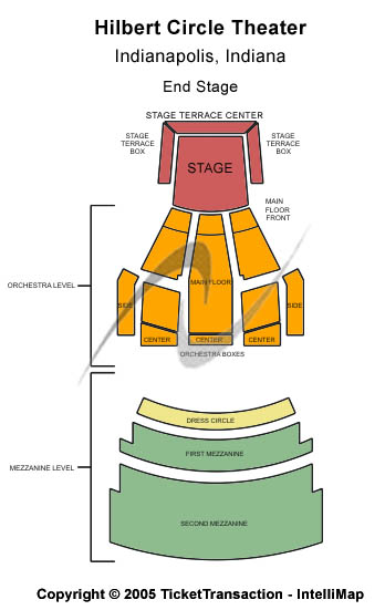 Hilbert Circle Theatre Seating Chart