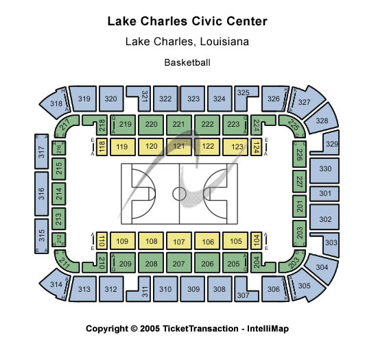 Lake Charles Civic Center Arena Seating Chart