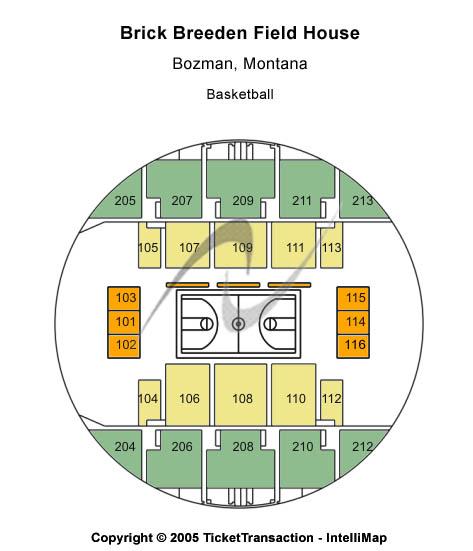 Brick Breeden Fieldhouse Seating Map