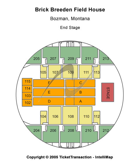 Brick Breeden Fieldhouse Seating Chart