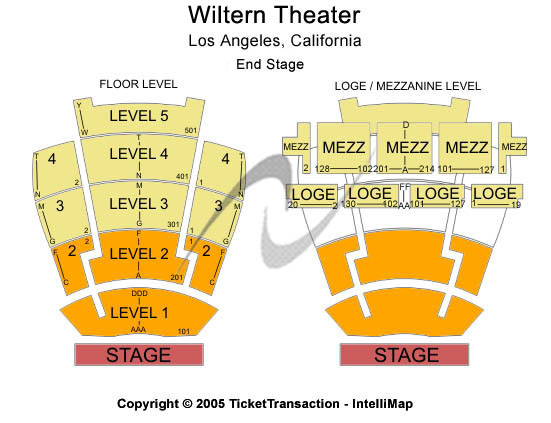 The Wiltern Seating Chart