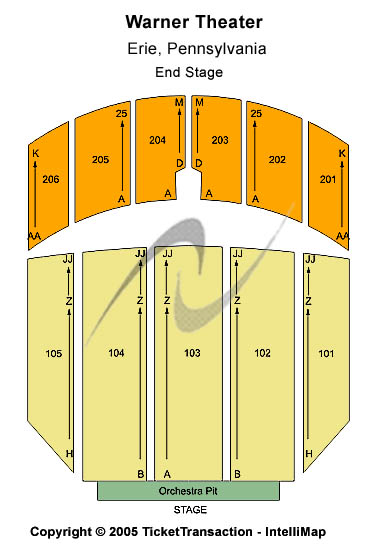 Warner Theatre-pa Seating Map