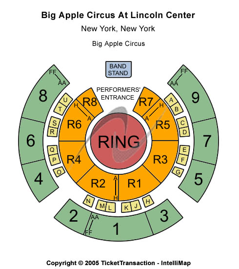 Lincoln Center Seating Chart
