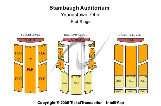 Stambaugh Auditorium Seating Chart