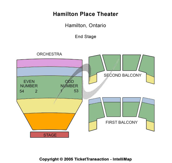 Hamilton Place Theatre Seating Chart