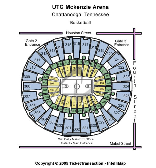Utc Mckenzie Arena Seating Map
