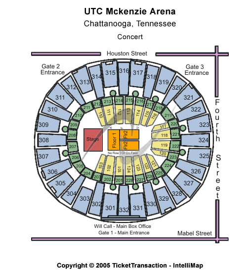 UTC Mckenzie Arena Seating Chart
