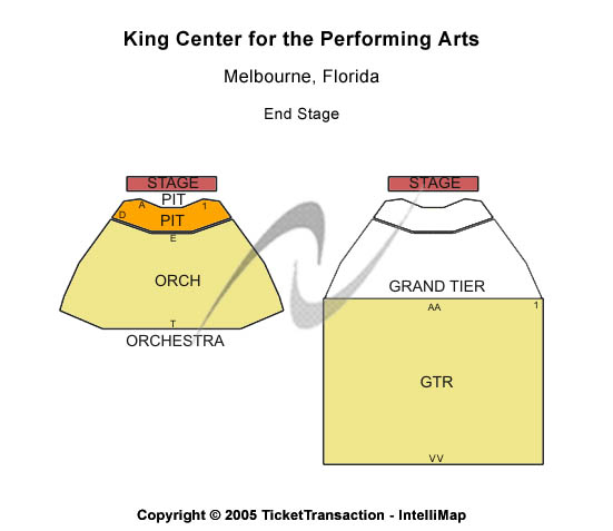 King Center For The Performing Arts Seating Map